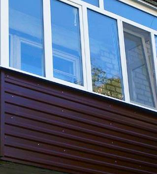 обшивка балкона профлистом