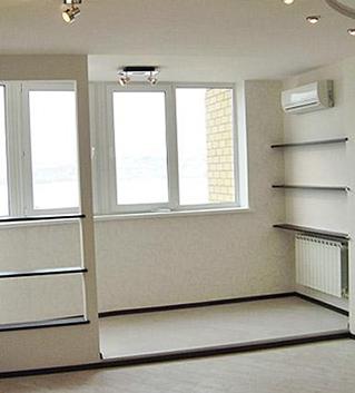 Объединение лоджии с комнатой