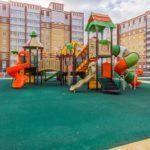 Ремонт и отделка квартир под ключ в ЖК 5 Квартал без дизайн проекта в Тюмени детская площадка