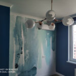 ЖК Европейский. Двухкомнатная квартира комната разрисованная стена
